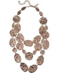 Oscar de la Renta | Metallic Scalloped Web Crystal Collar Necklace | Lyst