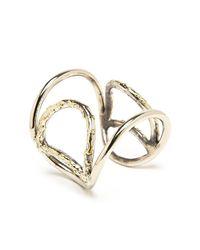 Anndra Neen | Metallic Melted Geometric Cuff | Lyst