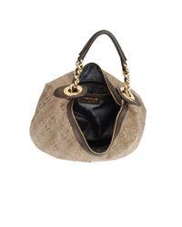 Just Cavalli   Beige Large Fabric Bag   Lyst