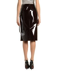 Maison Margiela   Purple Leather Skirt   Lyst