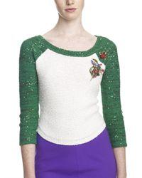Oscar de la Renta | Multicolor Hand Painted Crystal Floral Brooch | Lyst