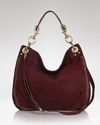Hobo Red Suede Tote