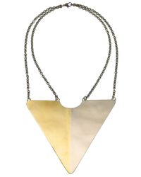 Anndra Neen | Metallic Triangle Necklace | Lyst