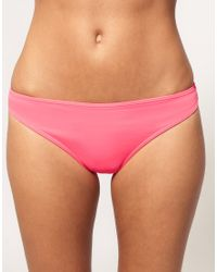 ASOS Collection - Pink Asos Mix and Match Bow Back Hipster Bikini Pants - Lyst