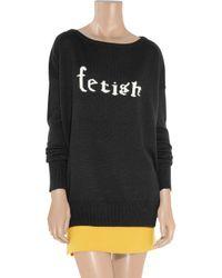 Bella Freud - Black Fetish Wool-blend Sweater - Lyst