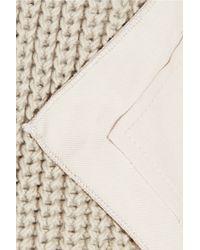 Bottega Veneta - Natural Gabardine and Knitted Cotton Trench Coat - Lyst