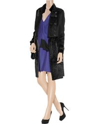 Burberry Prorsum | Black Wool And Silk-blend Lightweight Trench Coat | Lyst