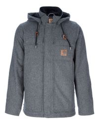 Carhartt - Gray Hooded Sweater for Men - Lyst