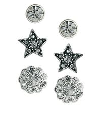 Cath Kidston - Metallic Exclusive To Asos Three Pack Earring Set - Lyst