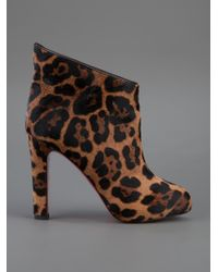 christian louboutin mens shoes spikes - Christian louboutin Leopard Print Ankle Boot in Animal (leopard ...