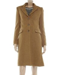 Dolce & Gabbana - Natural Wool Twill Coat - Lyst