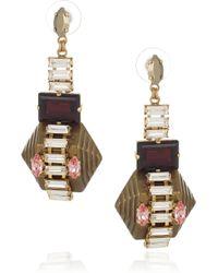 Erickson Beamon - Metallic Goldplated Swarovski Crystal Earrings - Lyst