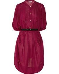Étoile Isabel Marant - Red Idol Cotton-Blend Twill Dress - Lyst