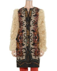 Etro - Multicolor Lamb Sleeved Printed Wool Blend Coat - Lyst
