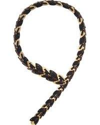 Giles & Brother | Black Nara Armor Leatherwoven 10karat Gold Necklace | Lyst