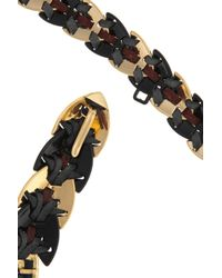 Giles & Brother - Black Nara Armor Leatherwoven 10karat Gold Necklace - Lyst