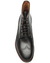 H by Hudson - Black Wing Tip Boot for Men - Lyst