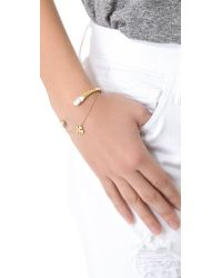 Jennifer Zeuner | Metallic Mini Clover Bracelet | Lyst
