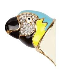 Juicy Couture - Metallic Parrot Crystal Enamel Bracelet - Lyst