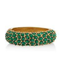 Kenneth Jay Lane - Green Crystal Bracelet - Lyst