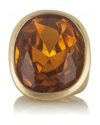Kenneth Jay Lane - Metallic Goldtone Crystal Ring - Lyst