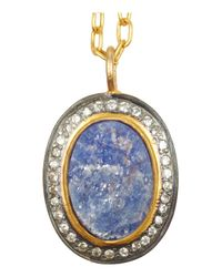 Kevia - Metallic Gold-Tone Sapphire and Crystal Necklace - Lyst