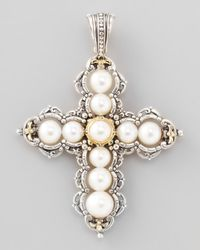 Konstantino - White Kassandra Large Cross Enhancer - Lyst