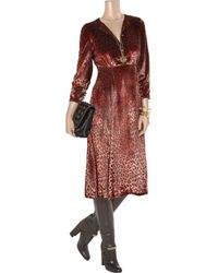 Marc By Marc Jacobs | Brown Sphinx Leopard-print Fine-velvet Dress | Lyst