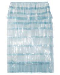 Marc Jacobs | Blue Elsa Fringed Tulle Skirt | Lyst