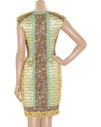 Matthew Williamson | Multicolor Paneled Brocade Dress | Lyst