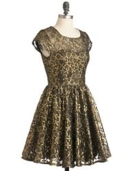 ModCloth | Pink Golden Garden Dress | Lyst