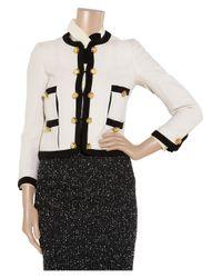 Moschino | Natural Silk-Trimmed Bouclé Wool-Blend Jacket | Lyst