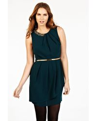 Oasis | Green Paloma Embellished Dress | Lyst