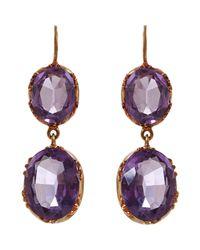 Olivia Collings - Purple Earrings - Lyst
