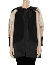 Rick Owens - Black Leather-trimmed Double-layer Cape - Lyst