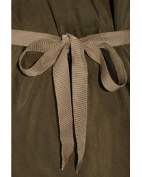 Roland Mouret - Green Bonnie Silk-habotai Asymmetric Dress - Lyst