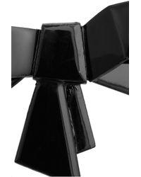 Sonia Rykiel - Black Lacquered Ribbon Brooch - Lyst