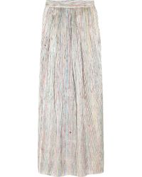 Theyskens' Theory | White Striped Organza Maxi Skirt | Lyst