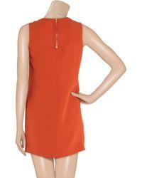 Vince - Orange Silk Georgette Shift Dress - Lyst