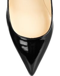 Christian Louboutin - Black The Pigalle 85 Patentleather Pumps - Lyst