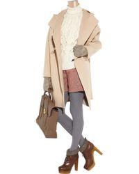 Reed Krakoff - Natural Wool and Angora-blend Duffel Coat - Lyst