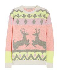 Stella McCartney   Multicolor Reindeer Intarsia Woolblend Sweater   Lyst