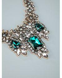 Valentino | Beige Crystal Embellished Necklace | Lyst