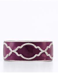 Ann Taylor | Purple Deco Trellis Bangle | Lyst