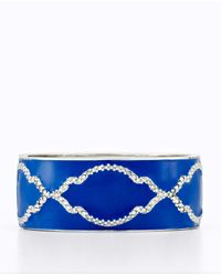 Ann Taylor | Blue Deco Trellis Bangle | Lyst