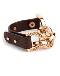 BaubleBar | Brown Gold Horsebit Bangle | Lyst