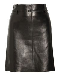 Chloé | Black Belted Leather Skirt | Lyst