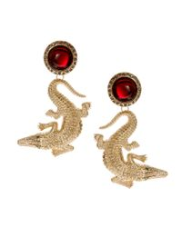 ASOS | Metallic Crocodile Earrings | Lyst