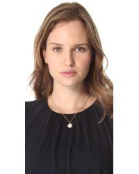 Michael Kors - White Concave Pendant Necklace - Lyst