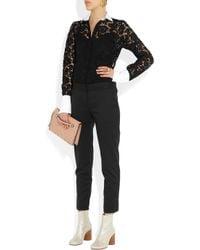 Valentino - Pink Rockstud Leather Clutch - Lyst